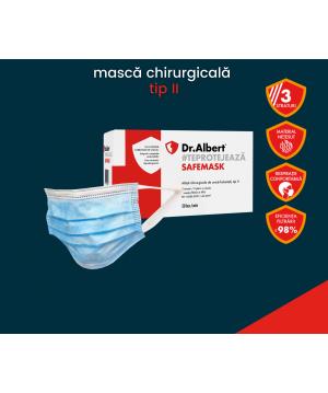 Masti chirurgicale de protectie tip II DR. Albert (50 buc/cutie)